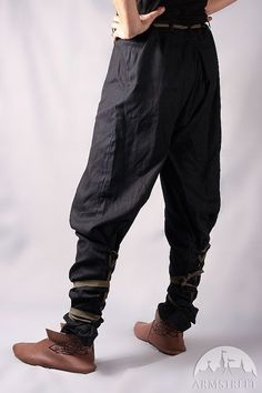 Medieval Cotton Pants with BLACK Lacing Personal by armstreet