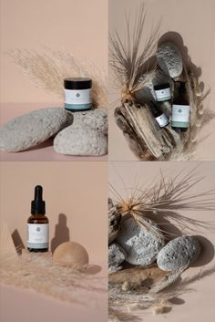 Natural Skincare Product Photography and Styling for Nourishe Natural Skincare. Roz McIntosh Photography and Styling. Natural, minimal, neutral asthetic with beachy details.