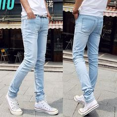 18.30 euro incl shipping HOT SALE NEW 2014 New arrival light blue Designer water wash denim jeans fashion Straight skinny Jeans brand Men's clothing A68