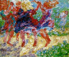 Wildly Dancing Children, Emile Nolde;. (1867-1956) german expressionism