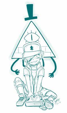 Gravity Falls, Bills y dipper Gravity Falls Dipper, Gravity Falls Anime, Gravity Falls Bill, Drawing Sketches, Art Drawings, Dipper And Bill, Dipper X Mabel, Dipper Pines, Fall Anime