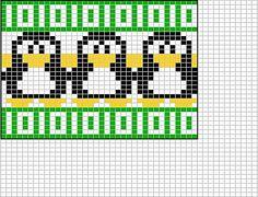 Penguin chart knitting