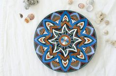 Decorative plate Sea Star  Birthday gift  Hand painted by LekaArt