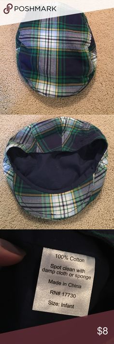 Newsboy-style boys cap Newsboy-style plaid (blue/green/white/denim) cap for infant/toddler boys.  Smoke free home. Accessories Hats