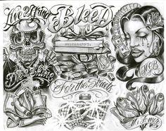 Chicano Art Tattoos, Gangster Tattoos, Cool Forearm Tattoos, Cool Tattoos For Guys, Prison Drawings, Boog Tattoo, Street Tattoo, Desenho Tattoo, Flash Art