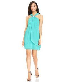 Xscape Embellished Halter Shift Dress