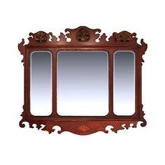 Antique 19th Century English Mahogany Mirror - $3800.