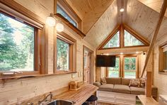 Tiny house vacation rental with a sauna - Hope Cottage @ Hope Island Cottages Bed and Breakfast in Fidalgo Island near La Conner in Washington. Christian owner.