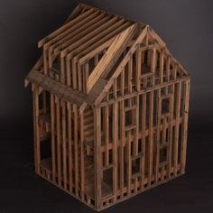 Architectural model of a three story house, circa 1910 (via obsolete.1stdibs.com)