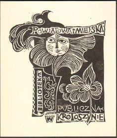 EXLIBRIS BOOKPLATE POLAND POLSKA SIGNED 1974 11X10CM BPL 179