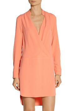 Thakoon   Wrap-effect crepe mini dress   NET-A-PORTER.COM
