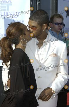 Chilli from tlc and usher   TLC Picture - USHER with TLC star CHILLI (Rozanda Thomas) at the 3rd ...