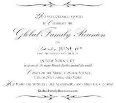 You are cordially invited to the Global Family Reunion! On June 6, 2015, the biggest, most extraordinary and most inclusive family reunion in history is happening. Come meet fascinating cousins you never knew you had — and learn about how we are building a Family Tree of the entire Human Race.