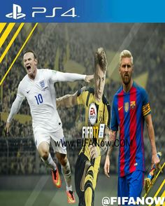 PIcsArt FIFA 17 Covers Rooney and Marco Reus and Messi