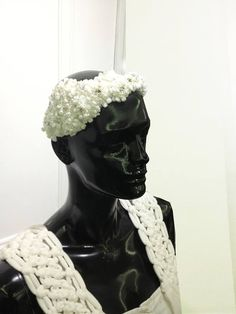 Lace and pearl comb by Oscar Daniel