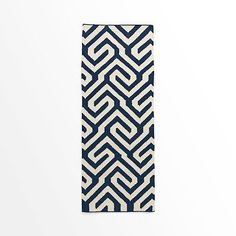 Key Wool Dhurrie – Regal Blue @west elm for the hallway
