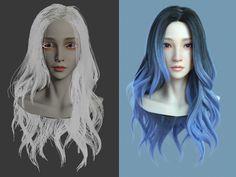 ornatrix hair test, yonglin yao on ArtStation at https://www.artstation.com/artwork/koZDz