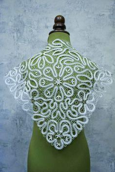 .: NUESTRA COMPAÑERA DEL GRUPO EN FACEBOOK Irina Barkova Filet Crochet, Irish Crochet, Crochet Motif, Crochet Shawl, Crochet Lace, Fabric Stiffener, Bruges Lace, Romanian Lace, Bobbin Lacemaking