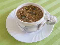 Vegan goulash kokos soep met prei en rijst | www.Alternatief-Idee.net