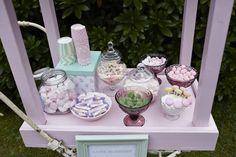 Slikbar fra vores bryllup i farvetema mintgrøn og lyserød