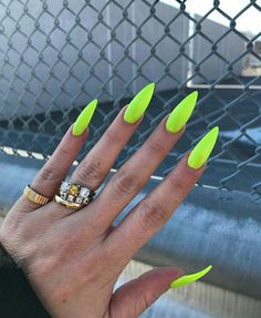 30 große Stiletto Nail Art Design-Ideen 1 – Nails, You can collect images you discovered organize them, add your own ideas to your collections and share with other people. Aycrlic Nails, Neon Nails, Manicure, Neon Nail Colors, Edgy Nails, Neon Nail Art, Colorful Nail Art, Color Nails, Lime Green Nails