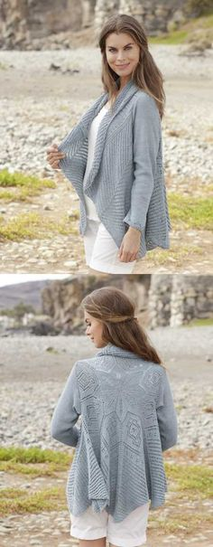 Free Knitting Pattern for a Seaside Dreamer Lace Cardigan