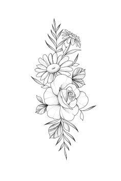Dream Tattoos, Mini Tattoos, Flower Tattoos, Body Art Tattoos, Small Tattoos, Sleeve Tattoos, Tatoos, Floral Tattoo Design, Tattoo Designs
