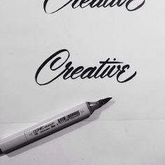 Brush pen lettering exploration.