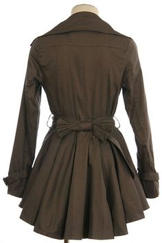 Love this coat...especially the back with the pleats and bow. $63.99
