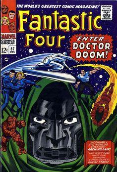 Fantastic Four w/ Doctor Doom Comic Books by Jack Kirby cover marvel Marvel Comics, Marvel Comic Books, Comic Books Art, Heroes Comic, Marvel Vs, Stan Lee, Univers Marvel, Vintage Comic Books, Vintage Comics