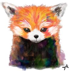 My painting/art a day. Red panda - cause i'm obsessed and theyre my favourite animal. I think i could do better but i just worked on it too long and tired of it. #art #paintings