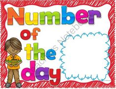 Number of the Day Posters  from Teaching Superkids on TeachersNotebook.com -  - Number of the Day Posters for Daily Guided Math