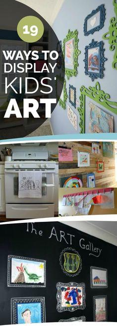 19 Ways to Display Kids' School Art Projects!