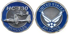 Air Force HC-130 Hercules Challenge Coin C 130, Air Force Medals, Wounded Warrior, Architecture Tattoo, Challenge Coins, Us Air Force, Aviation Art, Women In History, Animal Quotes