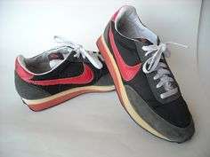 Vintage Nike Sneakers Pink and Grey by Baxtervintage on Etsy, $50.00