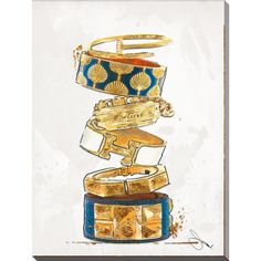 """Picture Perfect International By Jodi """"Pure Gold"""" Giclee Stretched Canvas Wall Art"""