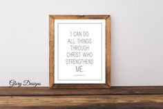 Printable Bible Verse Scripture art Philippians by glorydesigns