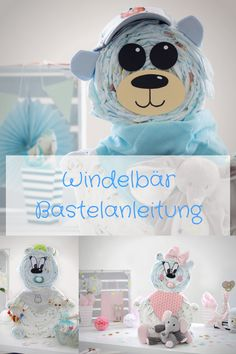 Cute alternative to the diaper cake – the diaper bear. So you can make a sweet … Niedliche Alternative zur Windeltorte – der Windelbär. So kannst Du ein süßes… Cute alternative to the diaper cake – the diaper bear. Guitar Diaper Cakes, Diaper Cake Boy, Baby Boy Gifts, Gifts For Boys, Baby Shower Gifts, Stork Baby Showers, Girls Bedroom, Bulletins, Thoughts