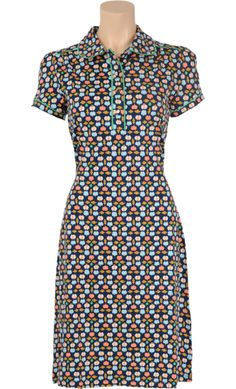 € 84,95 Polo dress Jazz ♡ Vintage Inspired Summer   #Print   King Louie SS 2015 ♡