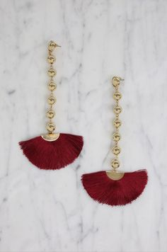 5beb65b81 Promise Me Earrings in Burgundy and Gold