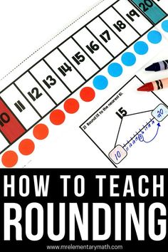 5 rounding activities to help your and grade students round numbers to the nearest 10 and Discover hands-on rounding activities, games, number lines and independent worksheets. Fourth Grade Math, Second Grade Math, Third Grade, Rounding 3rd Grade, Rounding Activities, Math Games, Maths Resources, Homeschooling Resources, Class Activities
