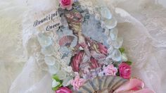 Marie Antoinette Gift Tag Mixed Media Art Tag by underthenightmoon, $26.00