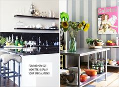 Get organized! Check out all of the wonderful open shelving examples! @Rue Mapp
