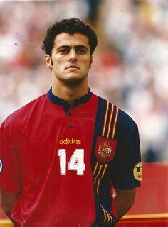 Kiko Narváez de España en la Eurocopa de 1996.