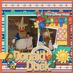 Disney Scrapbook Pages, Digital Scrapbooking Layouts, Scrapbook Layouts, Disney Cruise, Cruise Vacation, Disney Word, Disney Crafts, Epcot, Scrapbook Supplies
