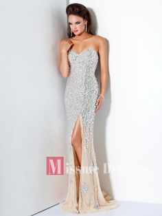 tight silver slit dress | Details about 2013 Sweetheart Silver Sequin Beads Chiffon Evening ...