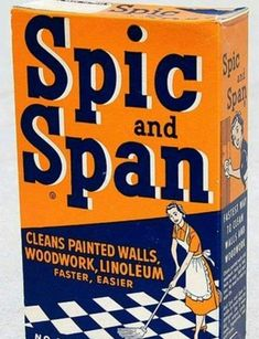 Spic and Span liquid cleaner vintage packaging