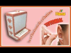 Dispenser Cotton Fioc/Caramelle con HAMA BEADS/Pyssla/Perler beads - Por...