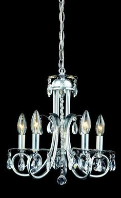 Z-Lite 852s Pearl Collection 5 Light Crystal Chandelier