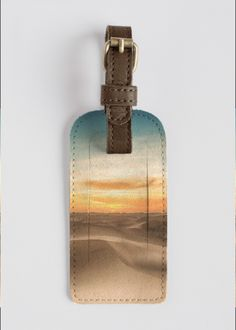Leather Accent Tag - LONDON by VIDA VIDA mAXUUO